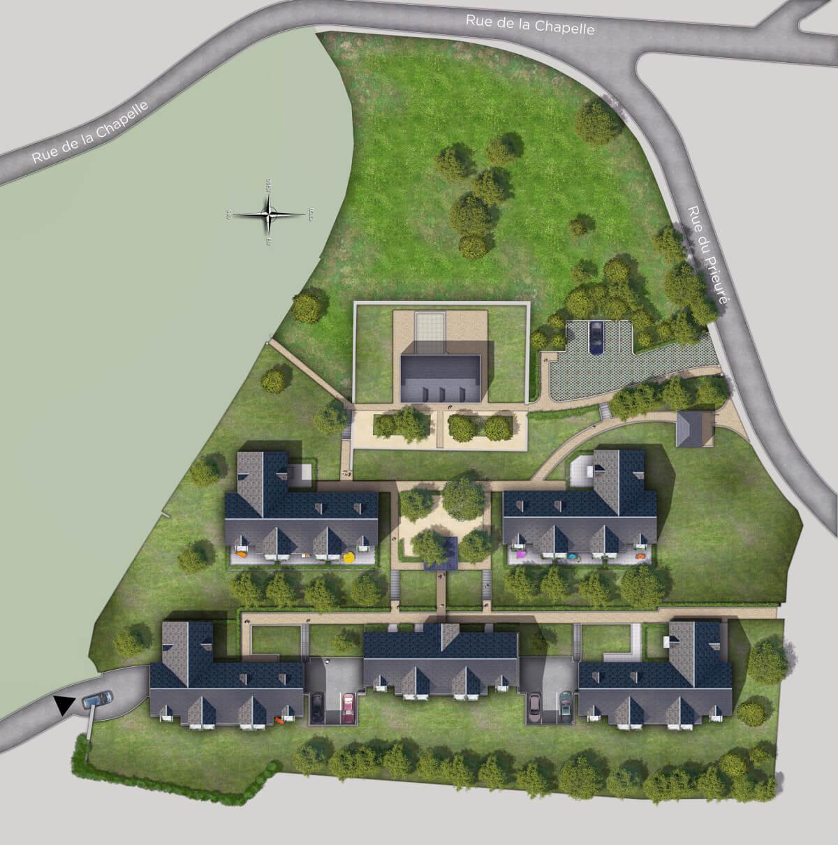 Plan de masse maison classique for Maison classique moderne